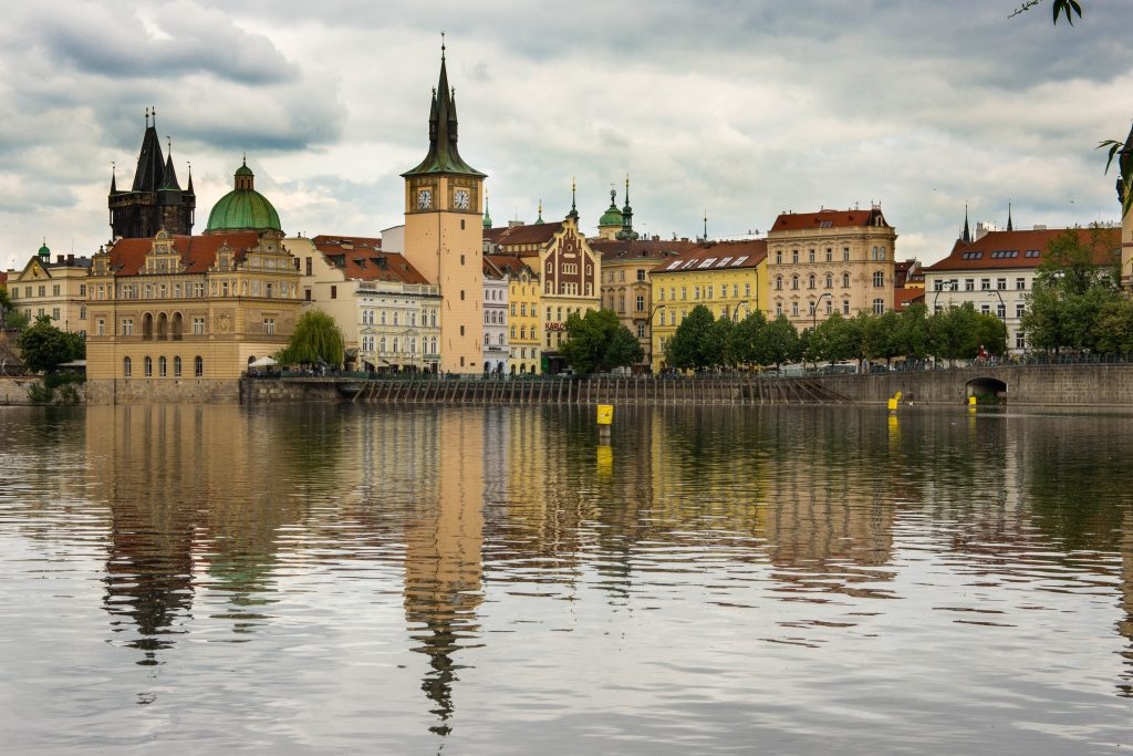 View of Prague from Kampa